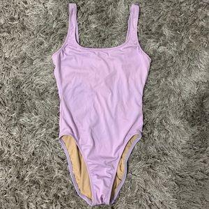 light purple vintage jcrew one piece swimsuit